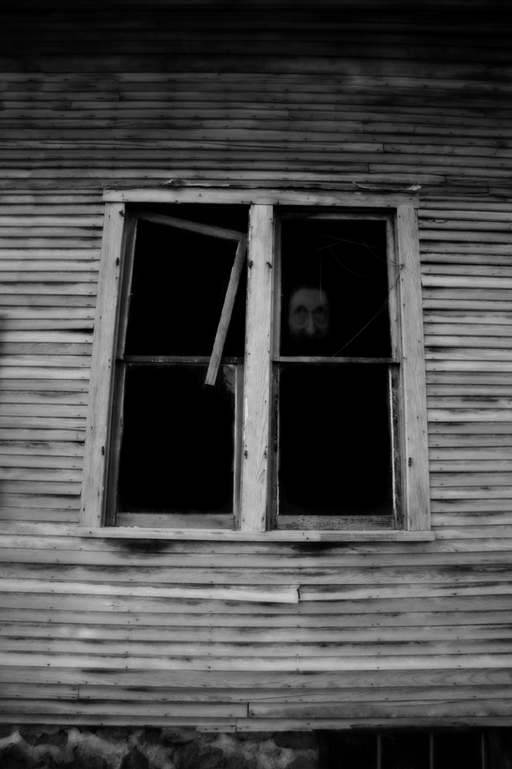 face in window