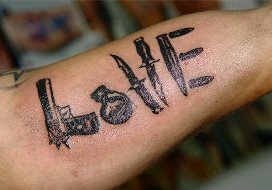 Love: because no one else has it tattooed.