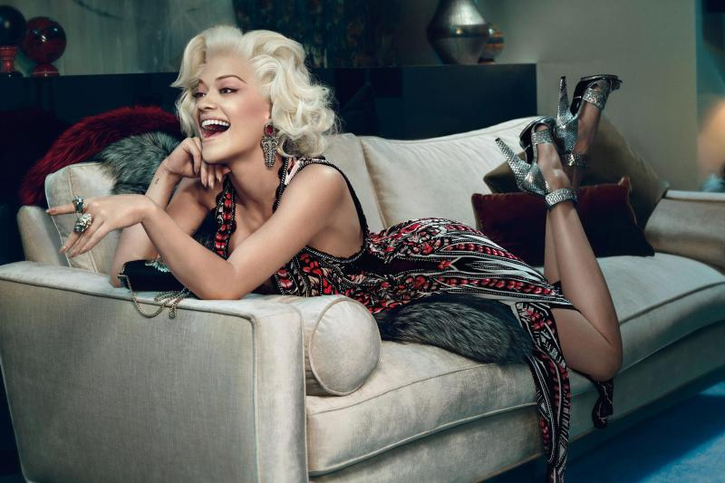Rita Ora seen in the new Roberto Cavalli campaign